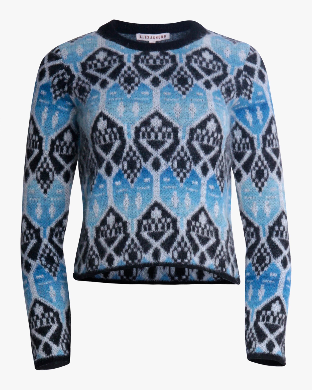 ALEXACHUNG Shrunken Crewneck Sweater 1