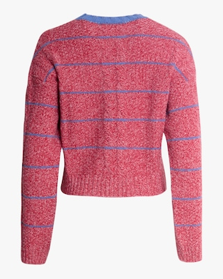 ALEXACHUNG Cropped Cable-Knit Crewneck Sweater 2