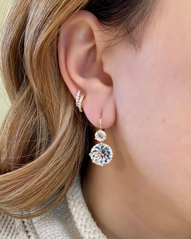 Jane Taylor Large Double Drop Earrings 2