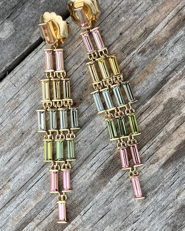 Jane Taylor One-of-a-Kind Baguette Cascade Earrings 2