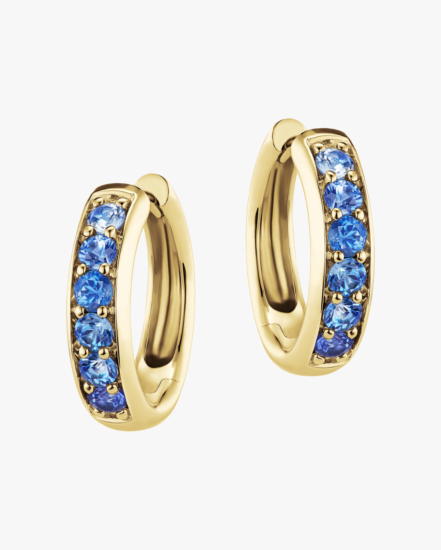 Jane Taylor Classic Blue Sapphire Hoop Earrings 1
