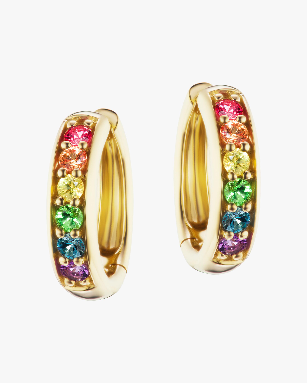 Jane Taylor Classic Rainbow Gemstone Hoop earrings 1