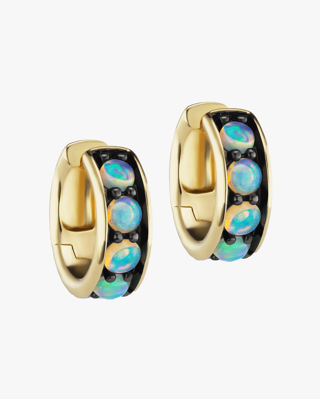 Jane Taylor Chubby Opal Hoop Earrings 1