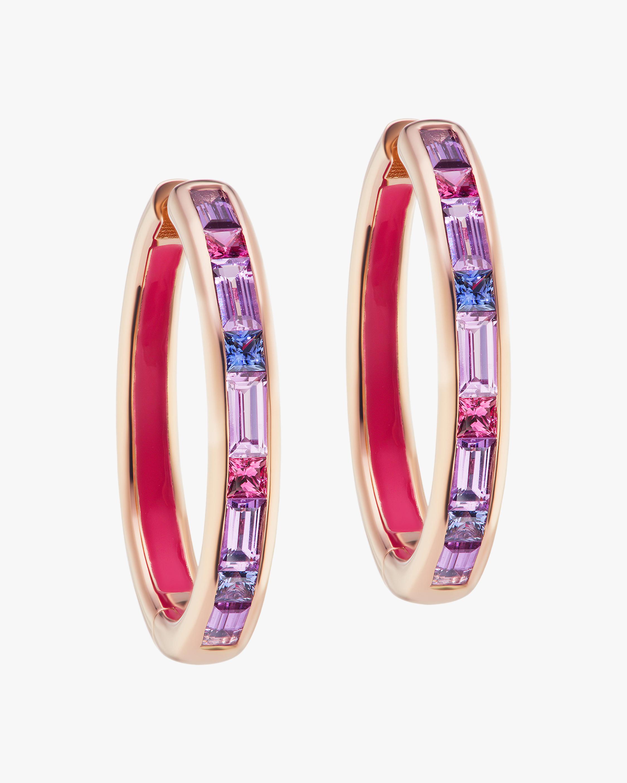 Jane Taylor Limited Edition Baguette Gemstone Hoop Earrings 1
