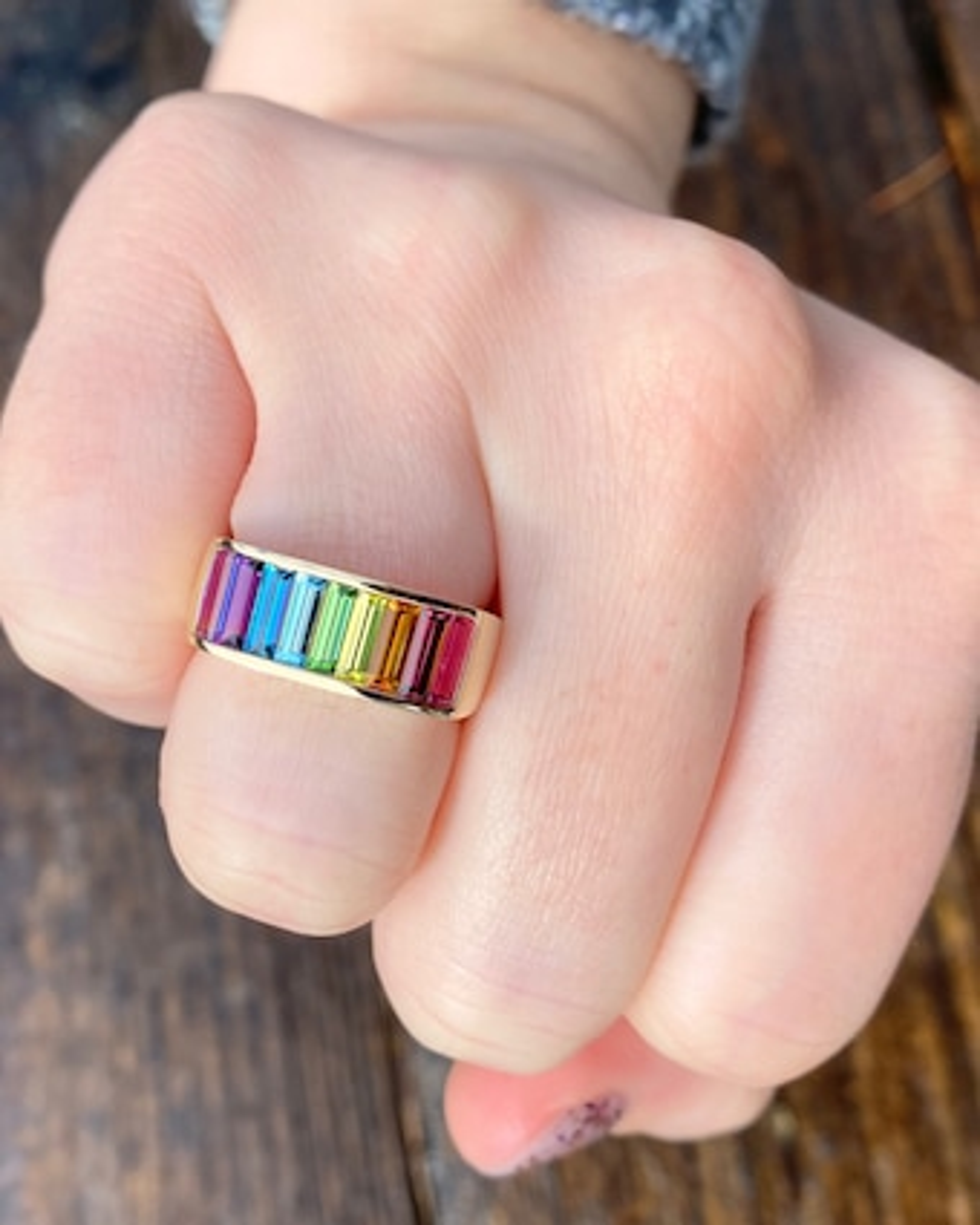 Jane Taylor Rainbow Gemstone Stacking Band 2