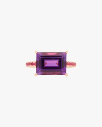 Jane Taylor Amethyst & Pink Sapphire Ring 1