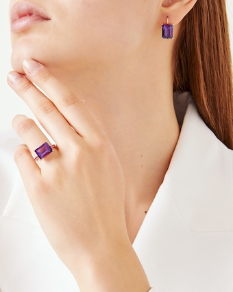 Jane Taylor Amethyst & Pink Sapphire Ring 2