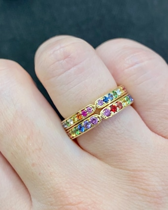 Jane Taylor Limited Edition Rainbow Eternity Band 2