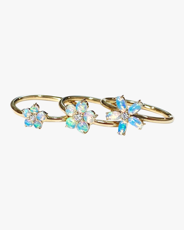 Jane Taylor Medium Opal & Diamond Flower Ring 1