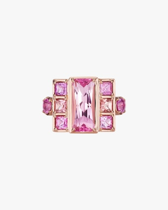 Jane Taylor One-of-a-Kind Pink Tourmaline Swing Ring 1