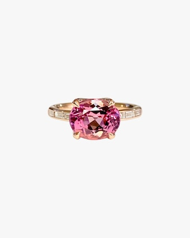 Jane Taylor Solitaire Tourmaline & Diamond Ring 1