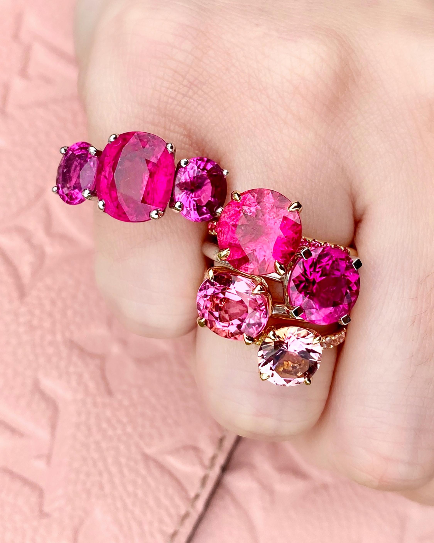 Jane Taylor Solitaire Tourmaline & Diamond Ring 2
