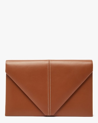 Hunting Season Leather & Suede Envelope Clutch 1