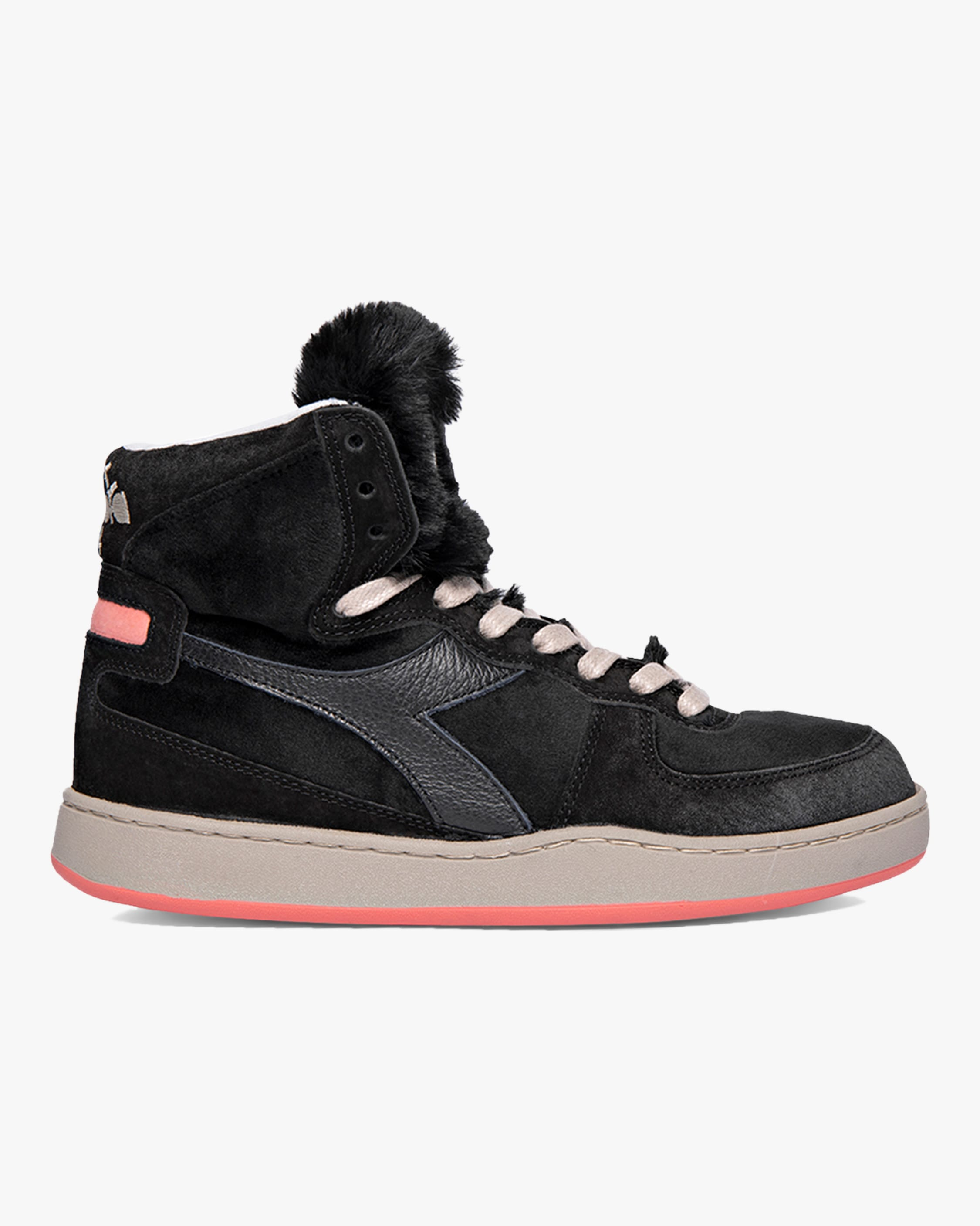 Diadora MI BASKET GORILLA FAUX FUR HIGH-TOP SNEAKER