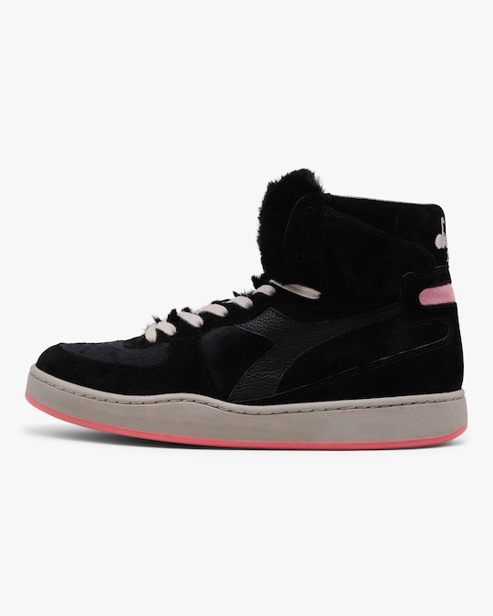 Diadora Mi Basket Gorilla Faux Fur High-Top Sneaker 0