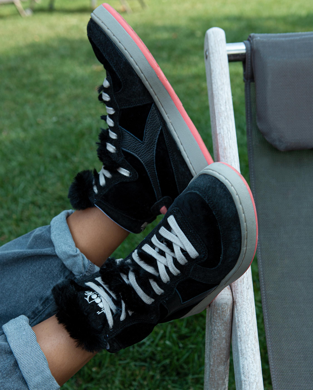 Diadora Mi Basket Gorilla Faux Fur High-Top Sneaker 4
