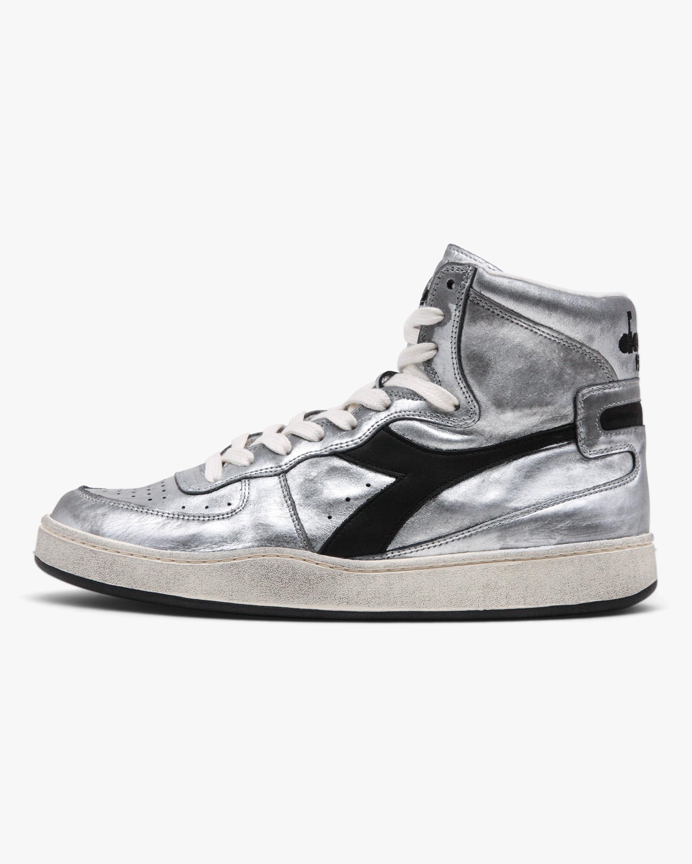 Diadora MI Basket Silver High-Top Sneaker 0