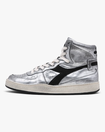 Diadora MI Basket Silver High-Top Sneaker 1