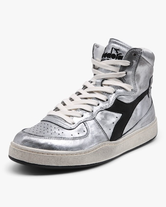Diadora MI Basket Silver High-Top Sneaker 2