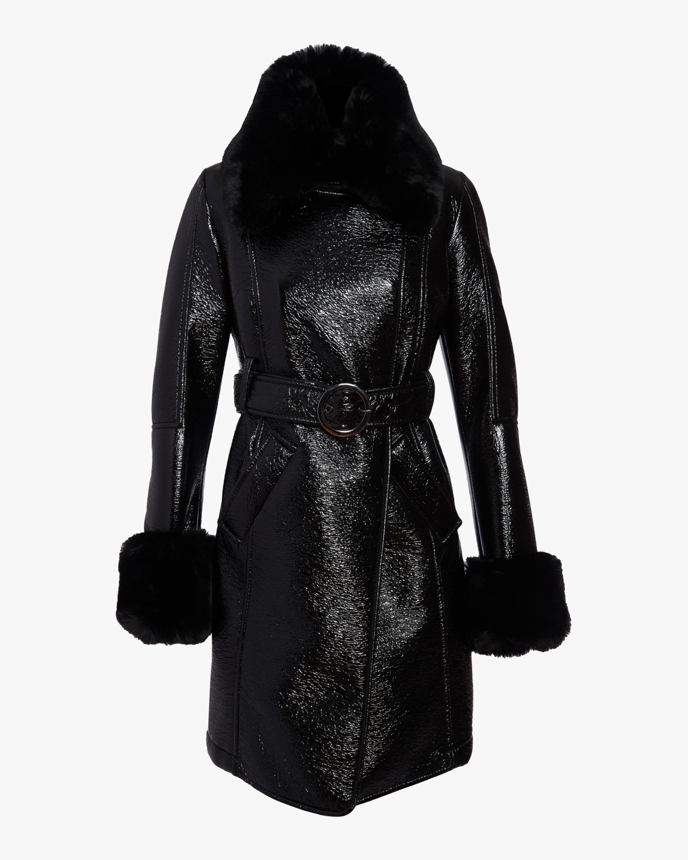 N'ONAT Faux Fur Belted Coat 1