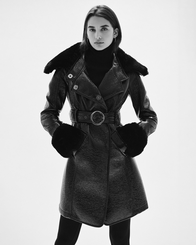 N'ONAT Faux Fur Belted Coat 2