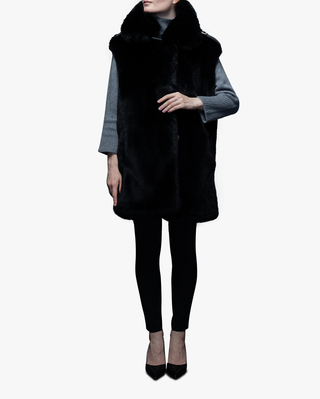 N'ONAT Faux Fur Belted Vest 0
