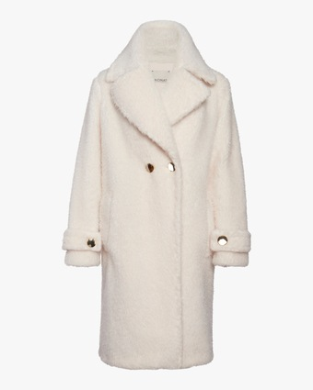 N'ONAT Teddy Faux Fur Collared Coat 1