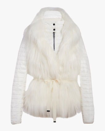 N'ONAT Faux Fur Convertible Puffer Jacket 1