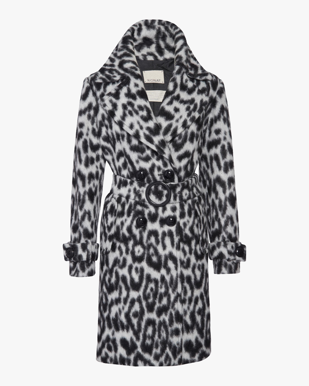 N'ONAT Snow Leopard Faux Fur Coat 1