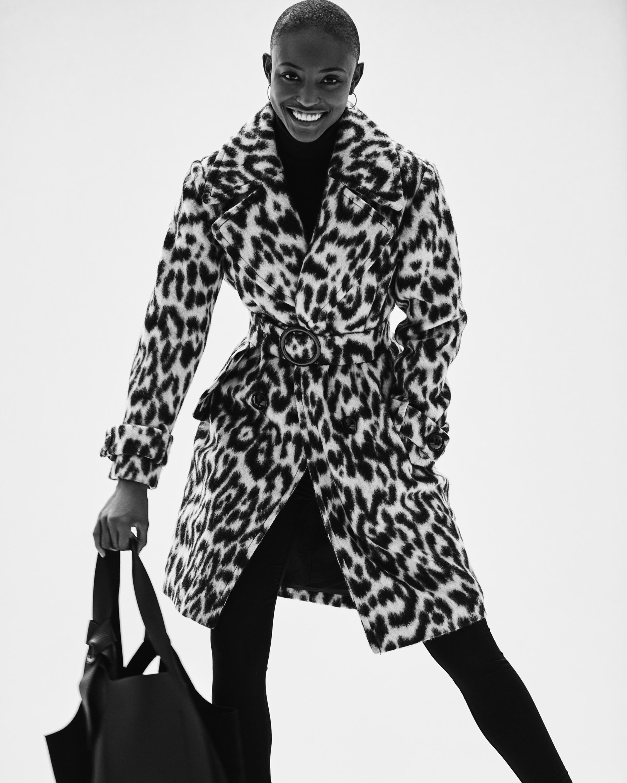 N'ONAT Snow Leopard Faux Fur Coat 2