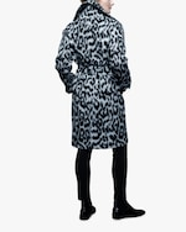 N'ONAT Snow Leopard Faux Fur Coat 4
