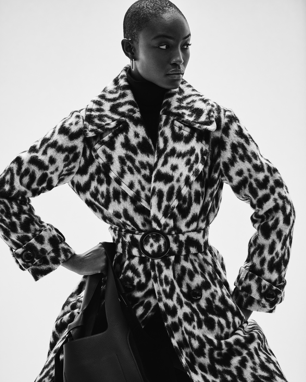 N'ONAT Snow Leopard Faux Fur Coat 5