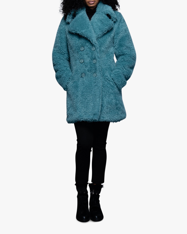 N'ONAT Faux Fur Shawl-Collar Coat 1