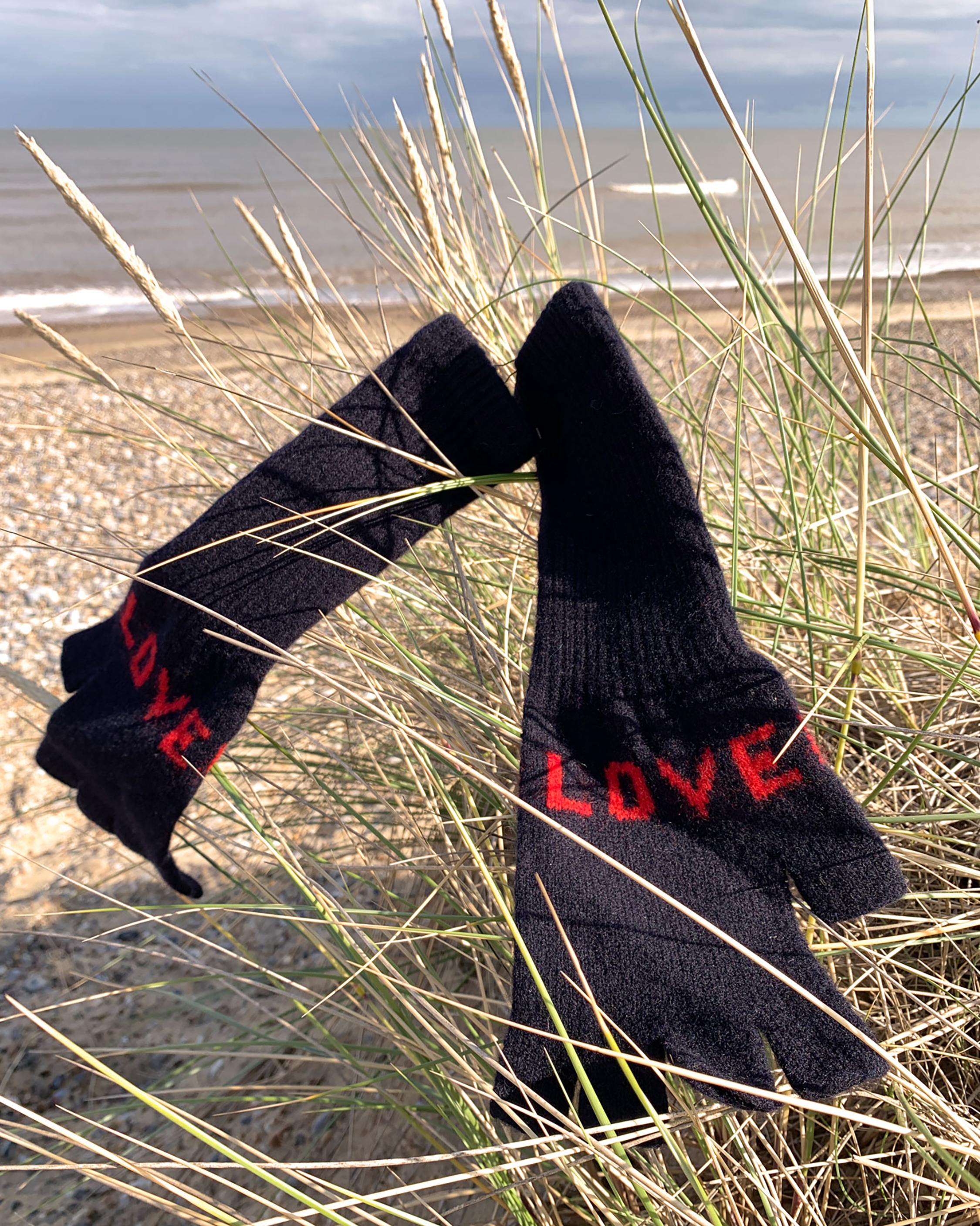 Quinton Chadwick Love Fingerless Gloves 2