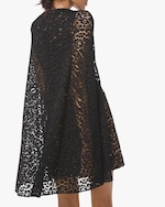 Michael Kors Collection Floral Lace Cape Dress 1