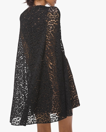 Michael Kors Collection Floral Lace Cape Dress 2