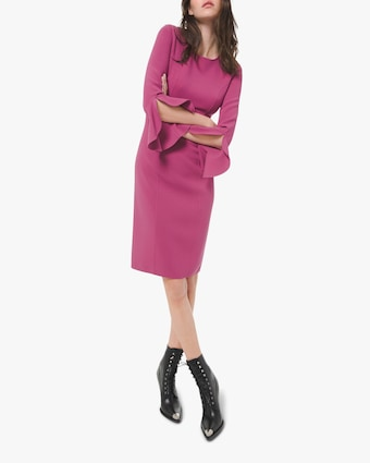 Michael Kors Collection Crepe Ruffle Sheath Dress 1