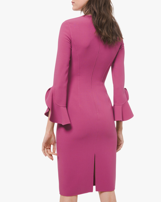 Michael Kors Collection Crepe Ruffle Sheath Dress 1