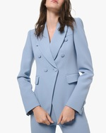 Michael Kors Collection Crepe Double-Breasted Blazer 0