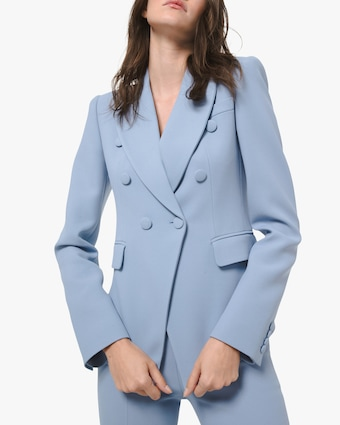 Michael Kors Collection Crepe Double-Breasted Blazer 1