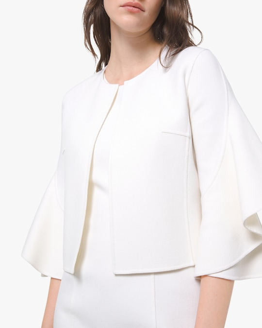 Michael Kors Collection Ruffle Sleeve Cardigan 0