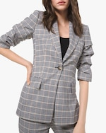 Michael Kors Collection Windowpane Flannel Blazer 0
