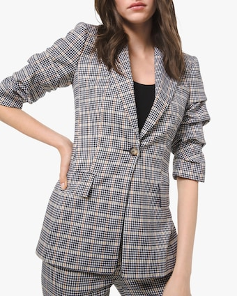 Michael Kors Collection Windowpane Flannel Blazer 1