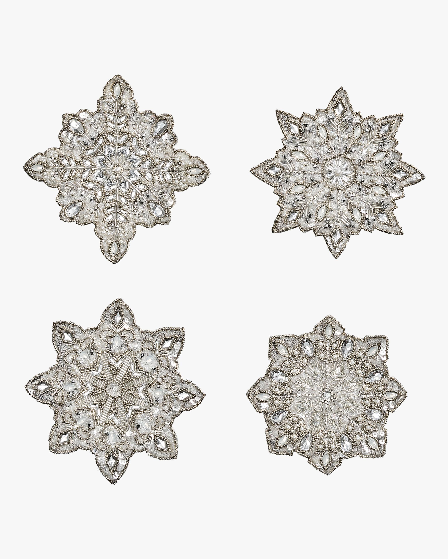 Kim Seybert Snowflake Coasters- Set of 4 1
