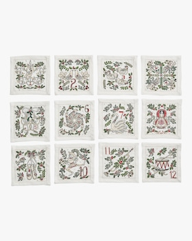 12 Days Of Christmas Cocktail Napkin - Set of 12