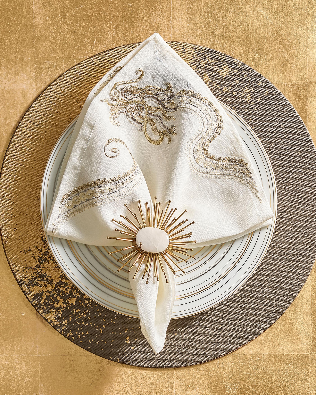 Kim Seybert Flare Napkin Ring- Set of 4 2