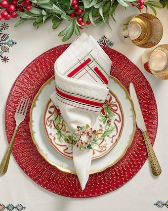 Kim Seybert Holiday Sparkle Placemat - Set of 4 2