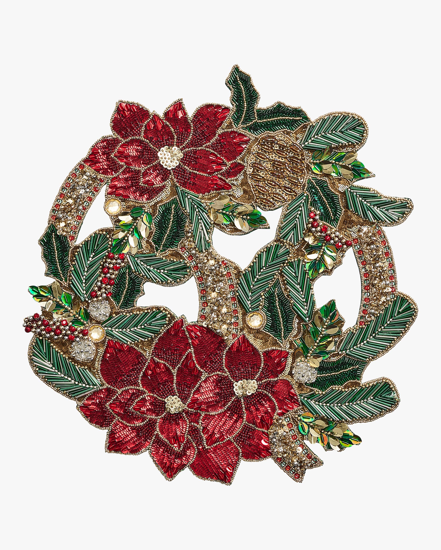 Kim Seybert Christmas Poinsettia Placemat - Set of 2 1