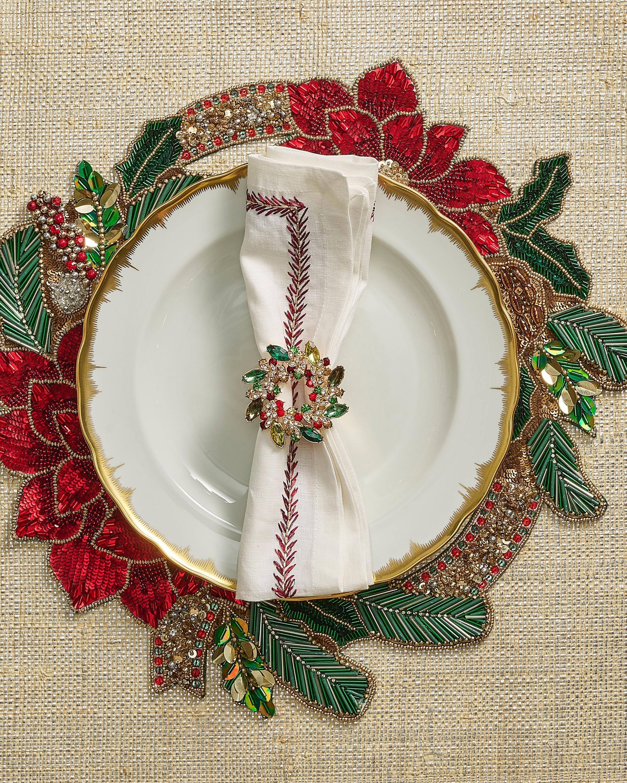 Kim Seybert Christmas Poinsettia Placemat - Set of 2 2