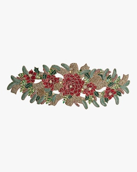 Christmas Poinsettia Runner